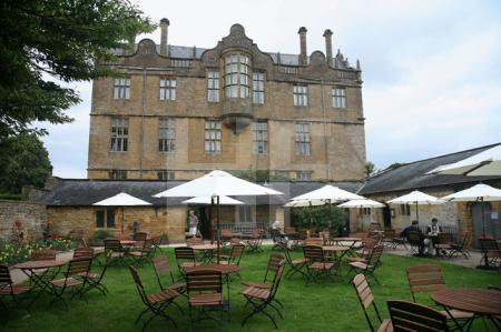 Das National Trust Café von Montacute House, Somerset