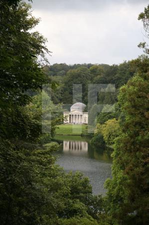 Das Pantheon in Stourhead Gardens, Wiltshire