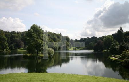 Der See von Stourhead Gardens, Wiltshire
