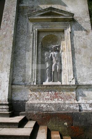 Nischenstatue am Pantheon, Stourhead Gardens, Wiltshire